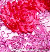 Сетка с объемными цветами и пайетками Пион Делюкс в Салоне Зодиак