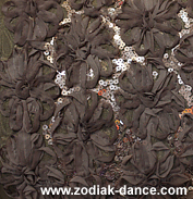 сетка с объемными цветами и пайетками в Салоне Зодиак