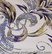 Сетка с вышивкой Птица Феникс