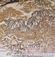 Сетка с вышивкой и пайетками Дерево в магазине тканей Зодиак
