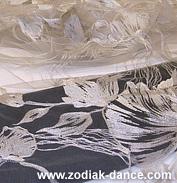 вышивка Гибискус белым по белому