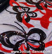 сетка с пайетками и вышивкой в магазине ткани Зодиак
