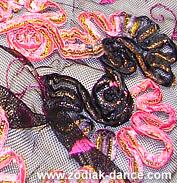 Дизайнерская ткань для танцев сетка с вышивкой Розы