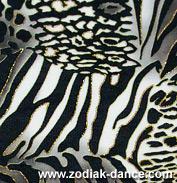 Стрейчевая сетка с рисунком Леопард и напылением