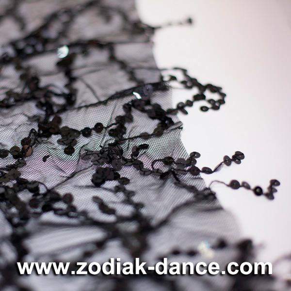 Сетка с пайетками на веревках Black